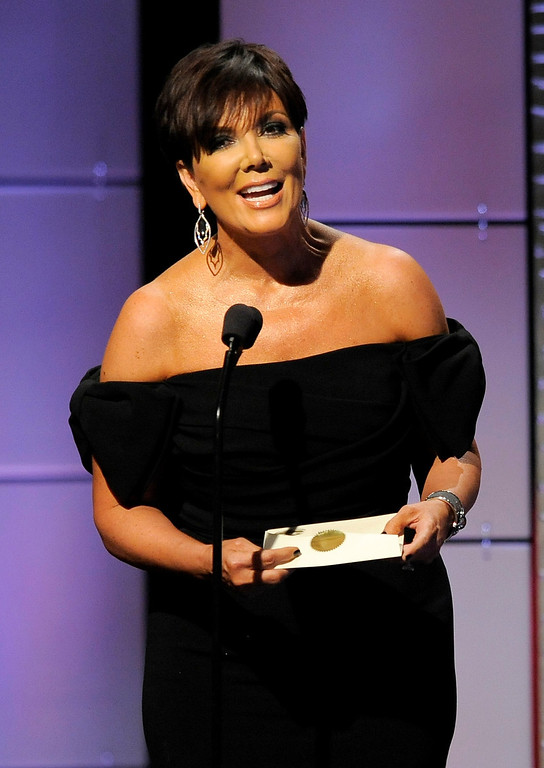 . Kris Jenner presents the award for outstanding talk show host at the 40th Annual Daytime Emmy Awards on Sunday, June 16, 2013, in Beverly Hills, Calif. (Photo by Chris Pizzello/Invision/AP)
