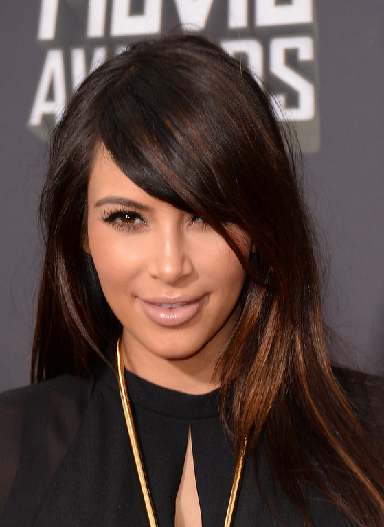 . TV personality Kim Kardashian arrives at the 2013 MTV Movie Awards at Sony Pictures Studios on April 14, 2013 in Culver City, California.  (Photo by Jason Merritt/Getty Images)