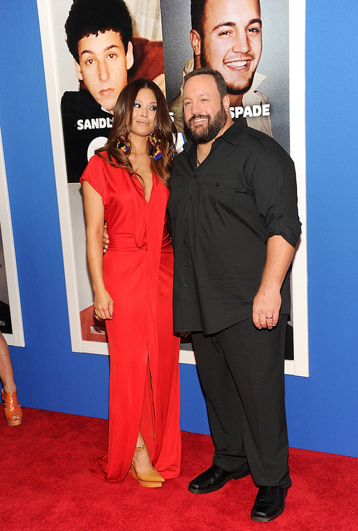 ". Actor Kevin James and wife Steffiana De La Cruz attend the premiere of ""Grown Ups 2\"" at the AMC Loews Lincoln Square on Wednesday, July 10, 2013 in New York. (Photo by Evan Agostini/Invision/AP)"