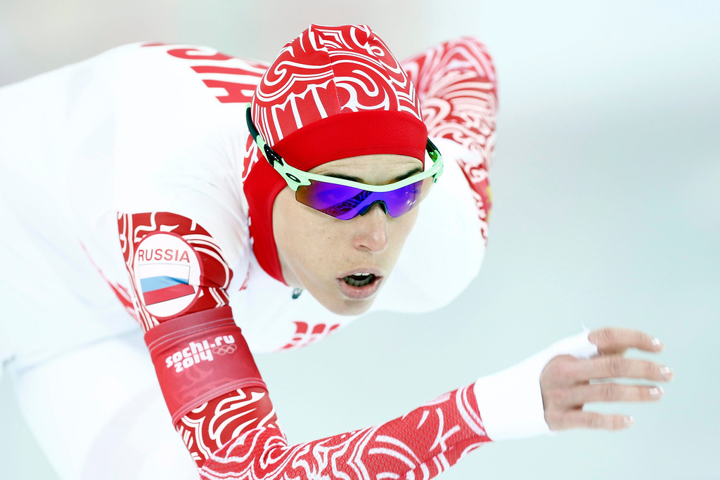 . Yakaratina Lobysheva of Russia in action during the women\'s 1500m Speed Skating event in the Adler Arena at the Sochi 2014 Olympic Games, Sochi, Russia.  EPA/VINCENT JANNINK