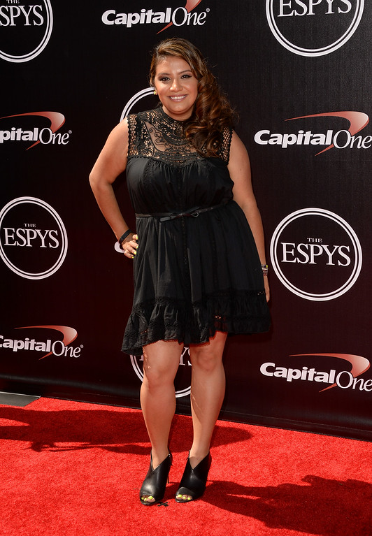 . LOS ANGELES, CA - JULY 16:  Comedian Cristela Alonzo attends The 2014 ESPYS at Nokia Theatre L.A. Live on July 16, 2014 in Los Angeles, California.  (Photo by Jason Merritt/Getty Images)