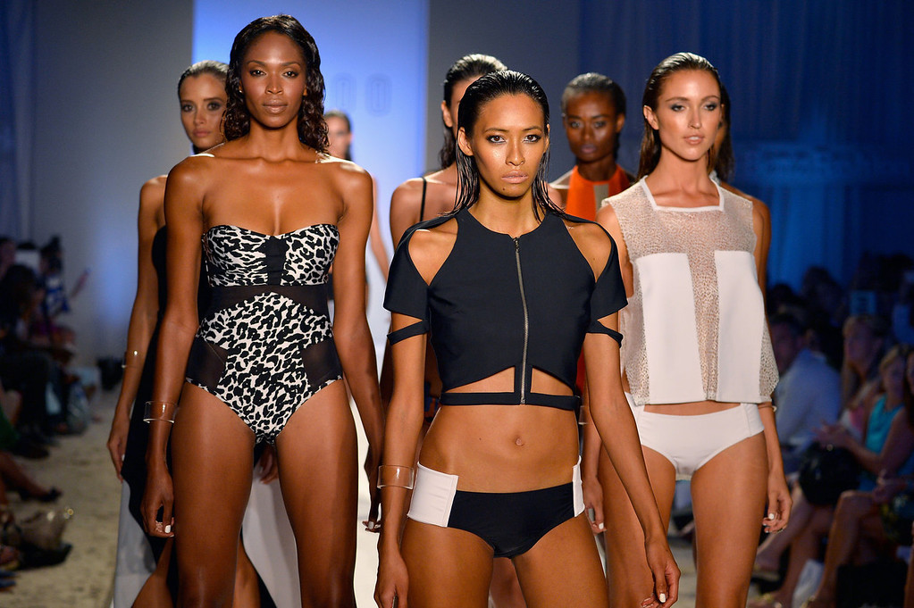 . Models walk the runway at the Suboo show during Mercedes-Benz Fashion Week Swim 2014 at Oasis at the Raleigh on July 19, 2013 in Miami, Florida.  (Photo by Frazer Harrison/Getty Images for Mercedes-Benz Fashion Week Swim 2014)