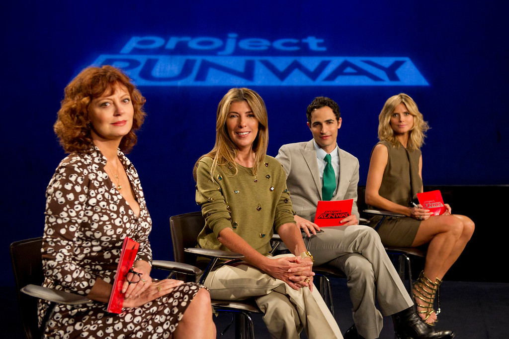 . Project Runway (L to R) Guest judge Susan Sarandon, Nina Garcia, Zac Posen and Heidi Klum judge Project Runway season 11, premiering Thursday, January 24, at 9pm ET/PT on Lifetime. Photo by Barbara Nitke Copyright 2012