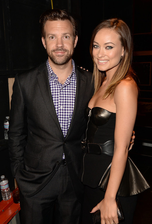 . CULVER CITY, CA - JUNE 08:  Actors Jason Sudeikis (L)and Olivia Wilde attend Spike TV\'s Guys Choice 2013 at Sony Pictures Studios on June 8, 2013 in Culver City, California.  (Photo by Jason Merritt/Getty Images for Spike TV)