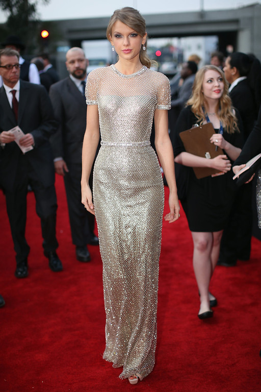 . Singer Taylor Swift attends the 56th GRAMMY Awards at Staples Center on January 26, 2014 in Los Angeles, California.  (Photo by Christopher Polk/Getty Images for NARAS)