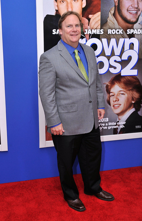 ". Actor Kevin Farley attends the ""Grown Ups 2\"" New York Premiere at AMC Lincoln Square Theater on July 10, 2013 in New York City.  (Photo by Stephen Lovekin/Getty Images)"
