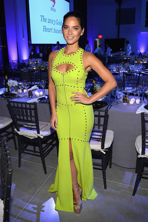 . NEW YORK, NY - OCTOBER 16:  Actress Olivia Munn attends God\'s Love We Deliver 2013 Golden Heart Awards Celebration at Spring Studios on October 16, 2013 in New York City.  (Photo by Larry Busacca/Getty Images for Michael Kors)