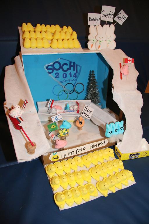". \""Olympic Peeps\"" (Sam Reisch, Age 8)"