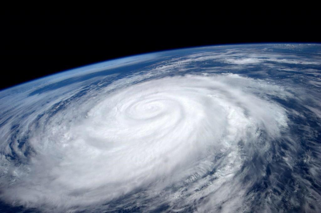 . This image provided by NASA shows Hurricane Marie taken fom the International Space Station Tuesday Aug. 26, 2014. The National Weather Service said beaches stretching 100 miles up the Southern California coast would see large waves and rip currents due to Marie.  (AP Photo/NASA, Reid Wiseman)