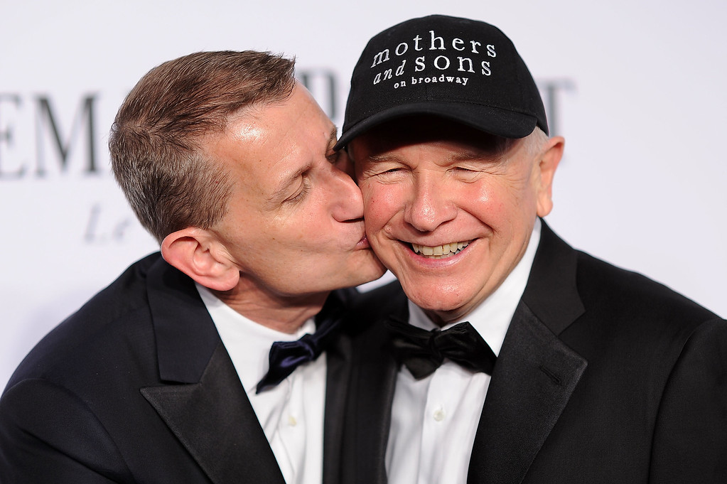 . Thomas Kirdahy (L) and playwright Terrence McNally attend the 68th Annual Tony Awards at Radio City Music Hall on June 8, 2014 in New York City.  (Photo by Dimitrios Kambouris/Getty Images for Tony Awards Productions)