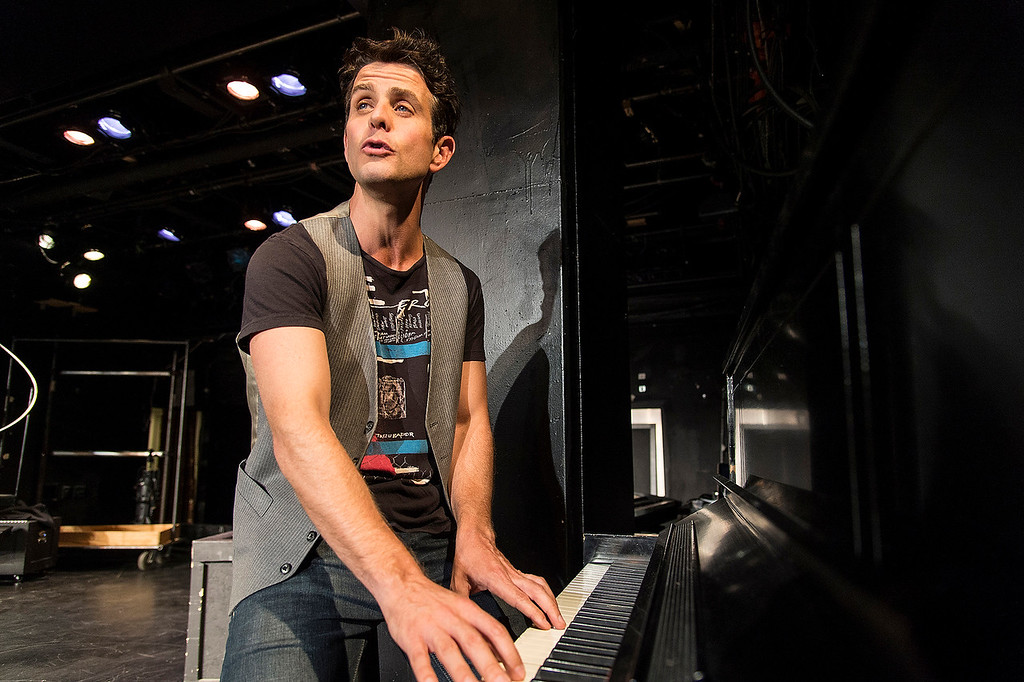 ". Joey McIntyre rehearsing his one-man show ""The Kid\"" at the Denver Center for the Performing Arts, Garner Galleria space. Photo Terry Shapiro, provided by Denver Center Attractions"