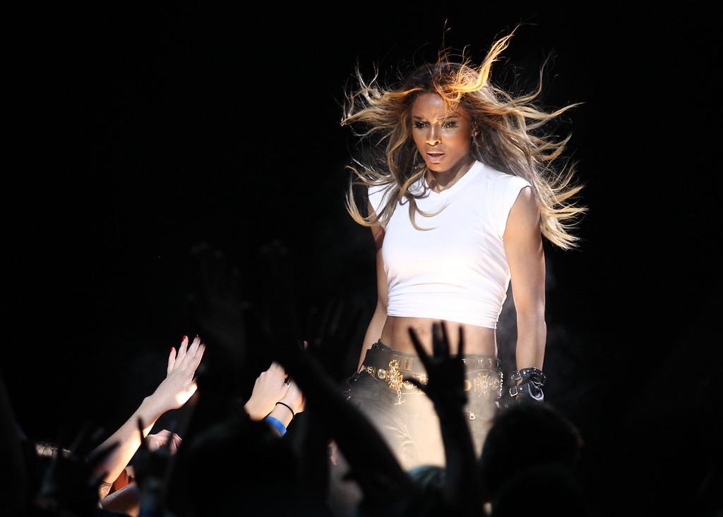 . Ciara performs at VH1 Divas on Sunday, Dec. 16, 2012, at the Shrine Auditorium in Los Angeles. (Photo by Matt Sayles/Invision/AP)