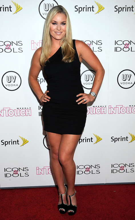 . Ski racer Lindsey Vonn arrives at the In Touch Weekly\'s 4th Annual Icons & Idols Celebration on August 28, 2011 in West Hollywood, California.  (Photo by Valerie Macon/Getty Images)