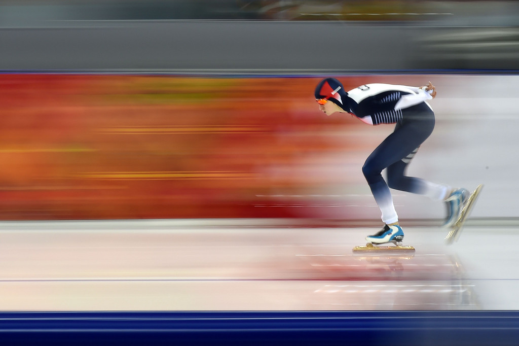 . Czech Republic\'s Martina Sablikova competes in the Women\'s Speed Skating 3000m at the Adler Arena during the Sochi Winter Olympics on February 9, 2014. Dutch speed skater Ireen Wust powered to victory in the women\'s 3,000m, stealing gold from defending Olympic champion Martina Sablikova.        DAMIEN MEYER/AFP/Getty Images