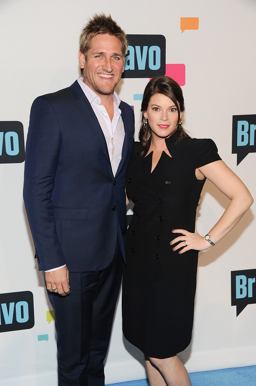 ". Curtis Stone and Gail Simmons from ""Top Chef\"" and \""Top Chef Masters\"" attend the Bravo Network 2013 Upfront on Wednesday April 3, 2013 in New York. (Photo by Evan Agostini/Invision/AP)"