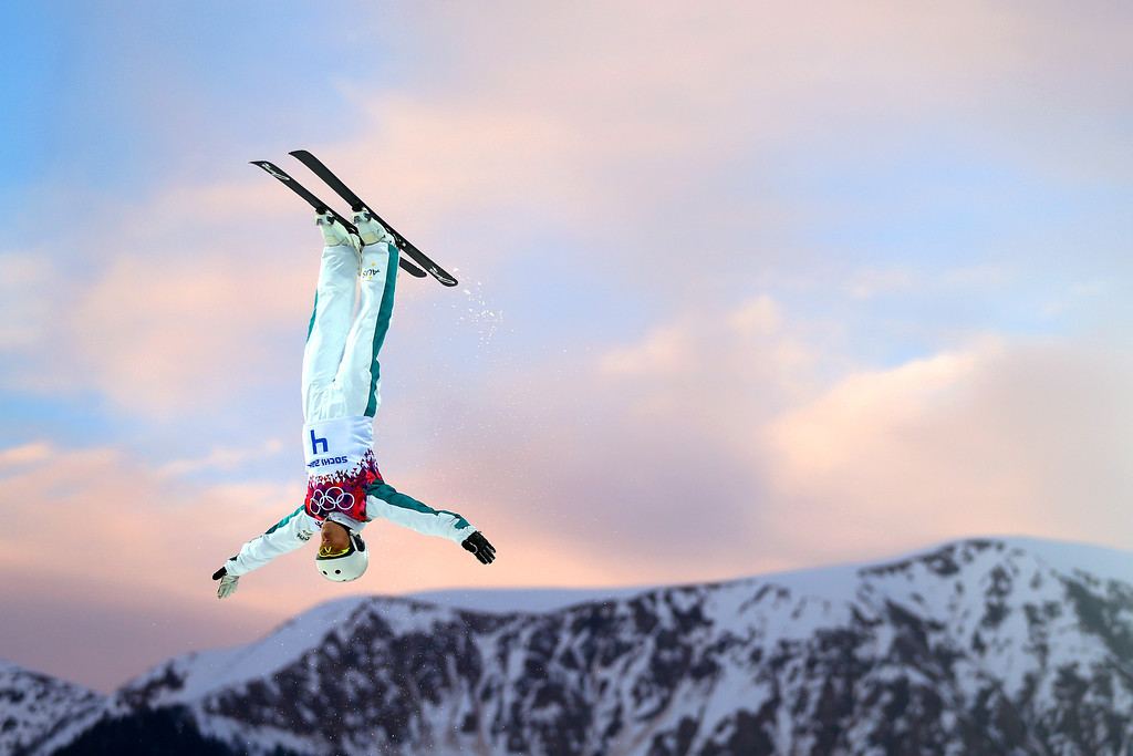 . SOCHI, RUSSIA - FEBRUARY 14:  Lydia Lassila of Australia competes in the Freestyle Skiing Ladies\' Aerials Qualification on day seven of the Sochi 2014 Winter Olympics at Rosa Khutor Extreme Park on February 14, 2014 in Sochi, Russia.  (Photo by Mike Ehrmann/Getty Images)