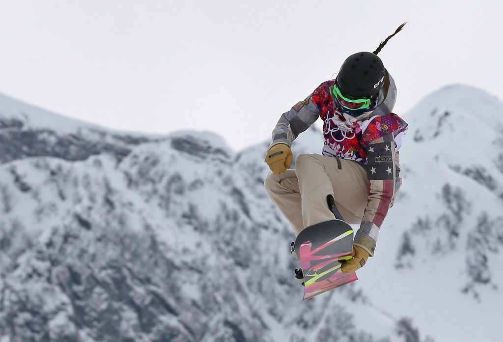 . Karly Shorr of the USA competes in the Women\'s Snowboard Slopestyle final at Rosa Khutor Extreme Park at the Sochi 2014 Olympic Games, Krasnaya Polyana, Russia, 09 February 2014.  EPA/SERGEY ILNITSKY