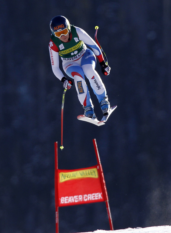 . Fraenzi Aufdenblatten of Switzerland competes during the Audi FIS Alpine Ski World Cup Women\'s Downhill on November 29, 2013 in Beaver Creek, Colorado. (Photo by Alexis Boichard/Agence Zoom/Getty Images)