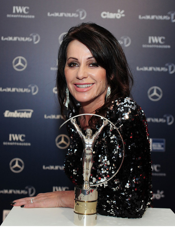 . Laureus Academy Member Nadia Comaneci attends the 2013 Laureus World Sports Awards at the Theatro Municipal Do Rio de Janeiro on March 11, 2013 in Rio de Janeiro, Brazil.  (Photo by Jamie McDonald/Getty Images For Laureus)