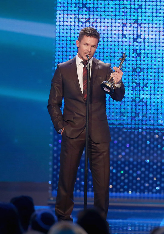 . Felix Baumgartner attends \'BAMBI Awards 2012\' at the Stadthalle Duesseldorf on November 22, 2012 in Duesseldorf, Germany. Felix Baumgartner ranked as Google\'s sixth most searched trending person of 2012. (Photo by Andreas Rentz/Getty Images)