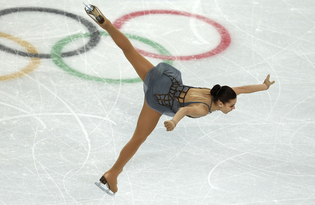 . Russia\'s Adelina Sotnikova performs in the Women\'s Figure Skating Free Program at the Iceberg Skating Palace during the Sochi Winter Olympics on February 20, 2014.  ADRIAN DENNIS/AFP/Getty Images