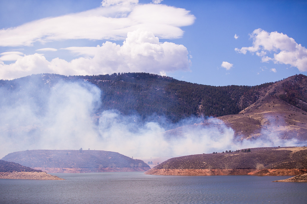 . High winds and warm temperatures are fueling the Soldier Canyon Fire near Lory State Park west of Fort Collins. Photo by Hunter Thompson, Special to The Denver Post