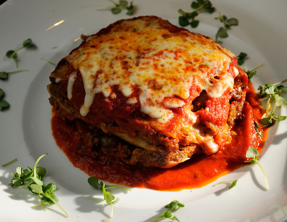 . Lasagna  for a dining review of the newly remodeled Gaetano\'s in NW Denver at Tejon and W. 38th Ave on Tuesday, December 4, 2012.     Cyrus McCrimmon, The Denver Post