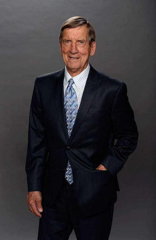 . NHL Hall of Famer Ted Lindsay poses for a portrait during the 2014 NHL Awards at Encore Las Vegas on June 24, 2014 in Las Vegas, Nevada.  (Photo by Harry How/Getty Images)