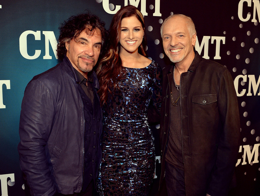. John Oates, Cassadee Pope, and Peter Frampton attend CMT Artists Of The Year 2013 at Music City Center on December 3, 2013 in Nashville, Tennessee.  (Photo by Rick Diamond/Getty Images for CMT)