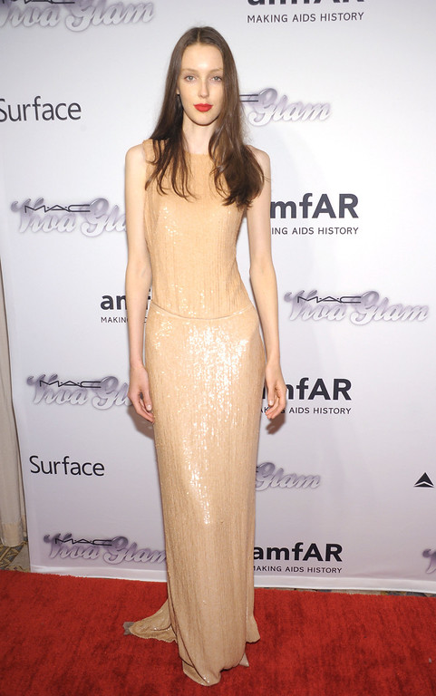 . NEW YORK, NY - JUNE 13:  Model Kaila Hart attends the 4th Annual amfAR Inspiration Gala New York at The Plaza Hotel on June 13, 2013 in New York City.  (Photo by Michael Loccisano/Getty Images)
