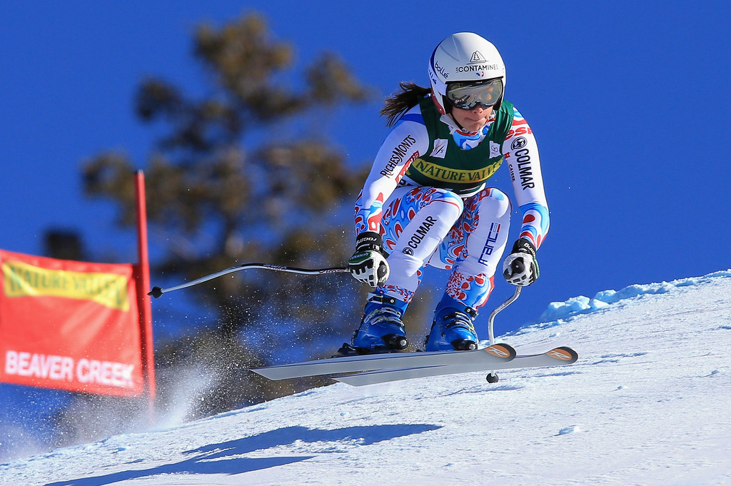. Marie Marchand-Arvier of France skis to 14th place in the ladies\' downhill on Raptor at the Audi FIS Alpine World Cup at Beaver Creek on November 29, 2013 in Beaver Creek, Colorado.  (Photo by Doug Pensinger/Getty Images)
