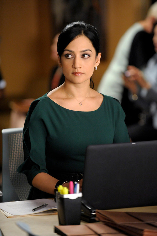 ". This image released by CBS shows Archie Panjabi in a scene from ""The Good Wife.\"" Panjabi was nominated Thursday, Dec. 13, 2012 for a Golden Globe for best supporting actress in a series for her role in ìThe Good Wife .ì  The 70th annual Golden Globe Awards will be held on Jan. 13. (AP Photo/CBS, Jeffrey Neira)"