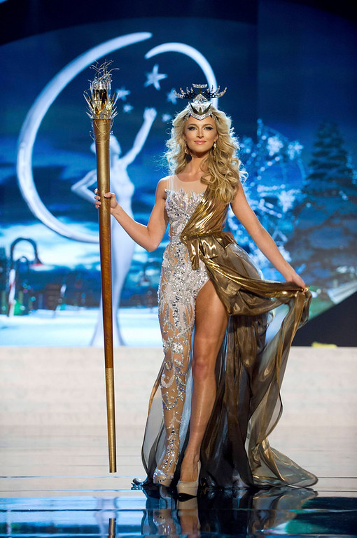. Miss South Africa Melinda Bam performs onstage at the 2012 Miss Universe National Costume Show at PH Live in Las Vegas, Nevada December 14, 2012. The 89 Miss Universe Contestants will compete for the Diamond Nexus Crown on December 19, 2012. REUTERS/Darren Decker/Miss Universe Organization/Handout