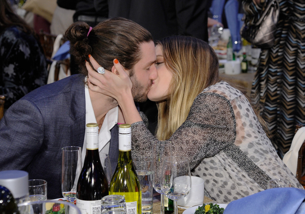 . SANTA MONICA, CA - FEBRUARY 23:  Actress Dree Hemingway (R) and Phil Winser attend the 2013 Film Independent Spirit Awards at Santa Monica Beach on February 23, 2013 in Santa Monica, California.  (Photo by Kevork Djansezian/Getty Images)