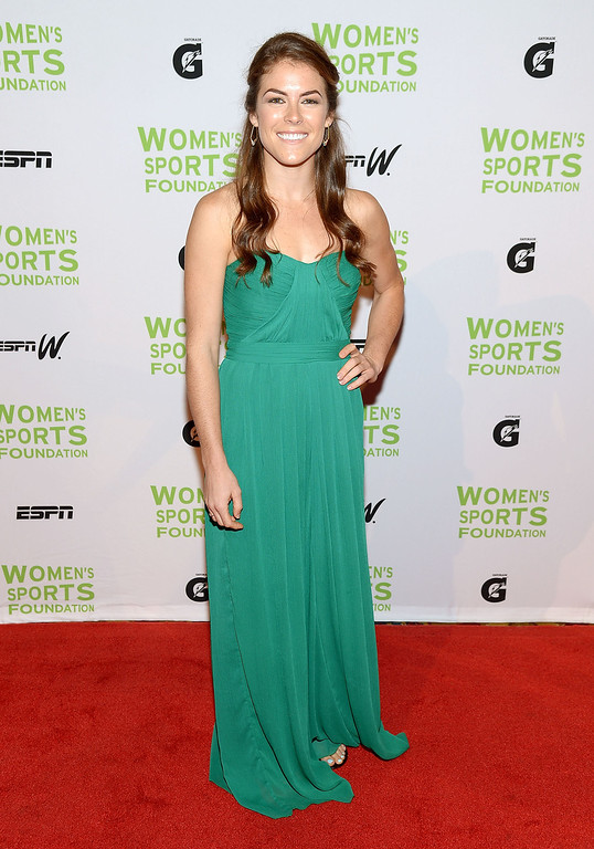 . NEW YORK, NY - OCTOBER 16:  Olympic soccer gold medalist Kelley O\'Hara attends the 34th annual Salute to Women In Sports Awards at Cipriani, Wall Street on October 16, 2013 in New York City.  (Photo by Michael Loccisano/Getty Images for the Women\'s Sports Foundation)