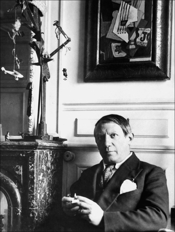 . This 1930 photo taken in Paris shows Pablo Ruiz Picasso (1881-1973), painter and sculptor born in Malaga, Spain and living in Paris since 1904.  He is shown at one of his expositions. (AFP/Getty Images)