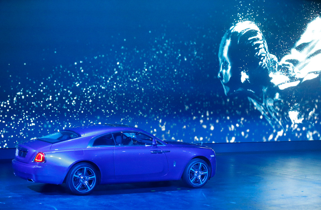 . The new Rolls Royce Wraith is presented during the first press day of the 65th Frankfurt Auto Show in Frankfurt, Germany, Tuesday, Sept. 10, 2013. (AP Photo/Frank Augstein)