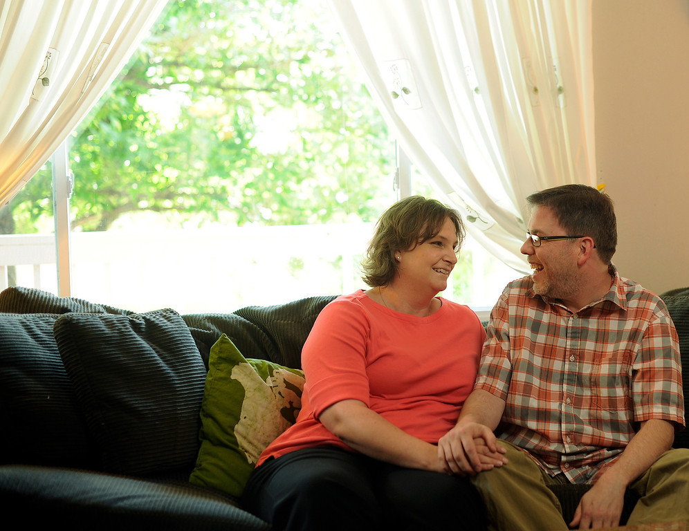 . WESTMINSTER, CO. -  JULY 1:  Summer Love story of Alyssa and Christopher Ericksen at their Westminster home on Monday, July 1, 2013.  (Photo By Cyrus McCrimmon/The Denver Post)
