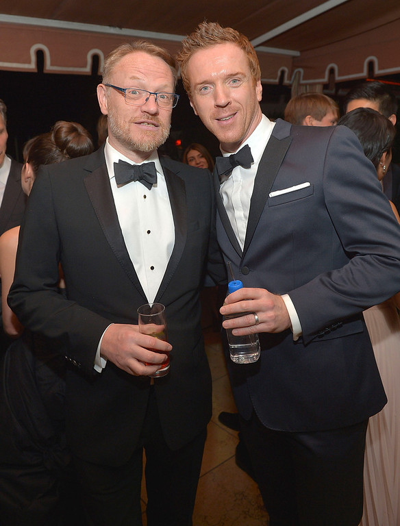 . Actors Jared Harris (L) and Damian Lewis attend The Weinstein Company\'s SAG Awards After Party Presented By FIJI Water at Sunset Tower on January 27, 2013 in West Hollywood, California.  (Photo by Charley Gallay/Getty Images for TWC)