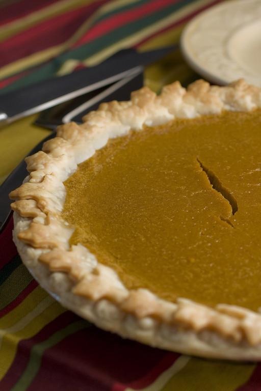 . This Oct. 22, 2008 file photo shows a piece of Best Pumpkin Pie.     (AP Photo/Larry Crowe)