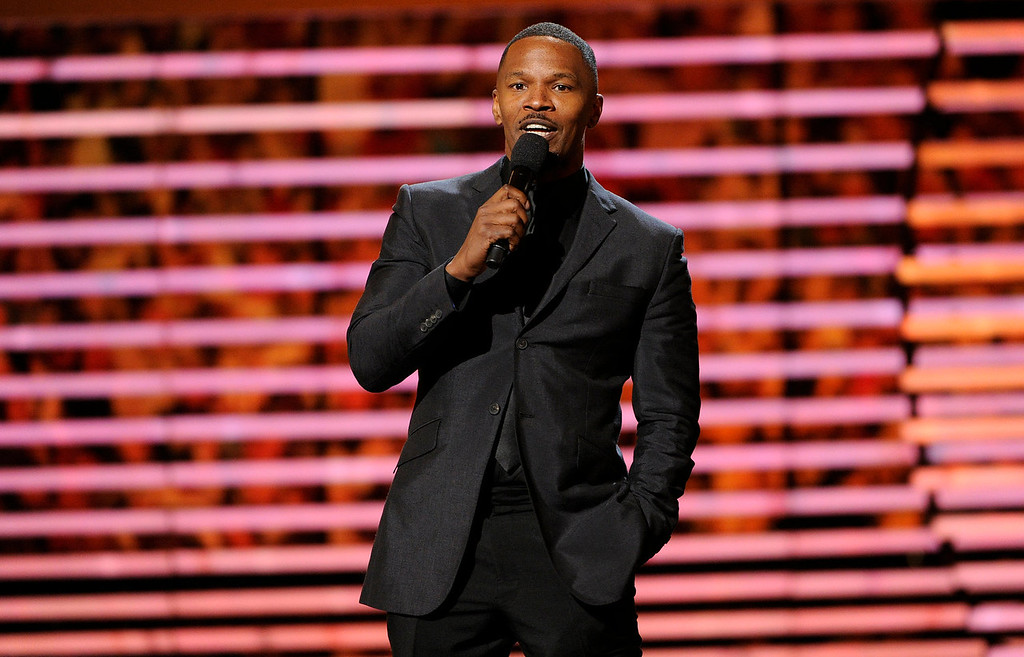 . Actor Jamie Foxx speaks on stage at the third annual NFL Honors at Radio City Music Hall on Saturday, Feb. 1, 2014, in New York. (Photo by Evan Agostini/Invision for NFL/AP Images)
