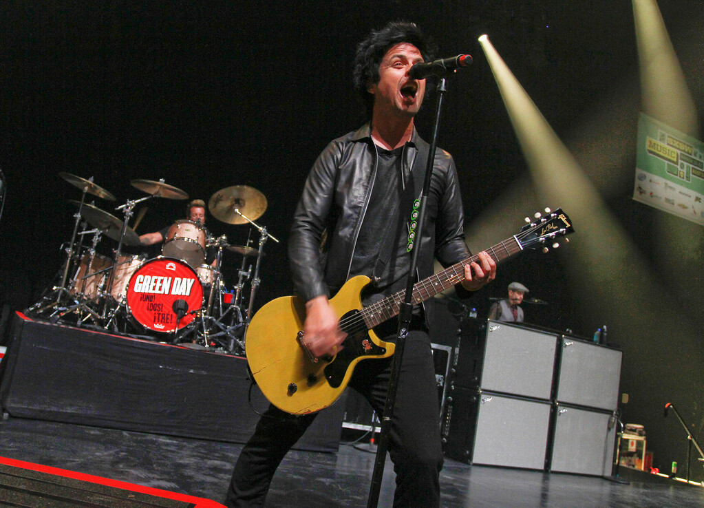 . Billie Joe Armstrong of Green Day performs at the SXSW Music Festival, on Friday, March 15, 2013 in Austin, Texas. (Photo by Jack Plunkett/Invision/AP Images)