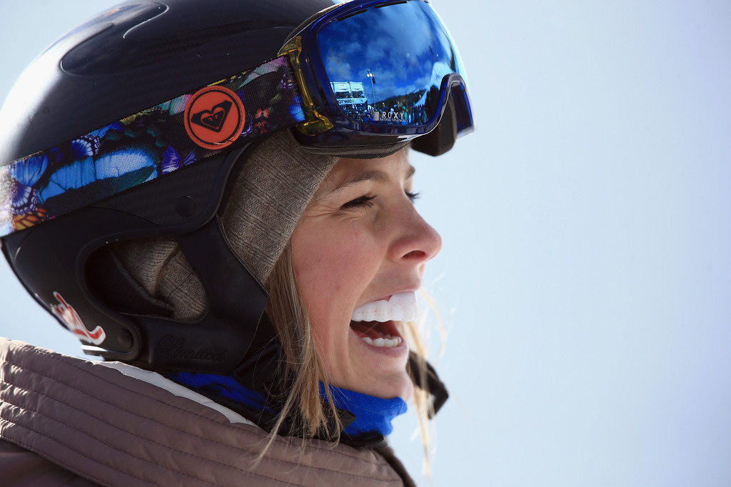 . Torah Bright of Australia reacts as she wins the women\'s snowboard superpipe final at the Dew Tour iON Mountain Championships on December 14, 2013 in Breckenridge, Colorado.  (Photo by Doug Pensinger/Getty Images)