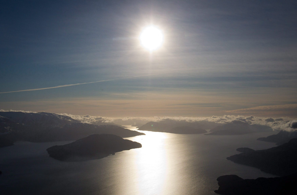 . The Douglas Channel, the proposed shipping route for oil tanker ships in the Enbridge Northern Gateway Project, just south of Kitmat, B.C., is pictured on Jan. 10, 2012.    (AP Photo/The Canadian Press, Darryl Dyck)