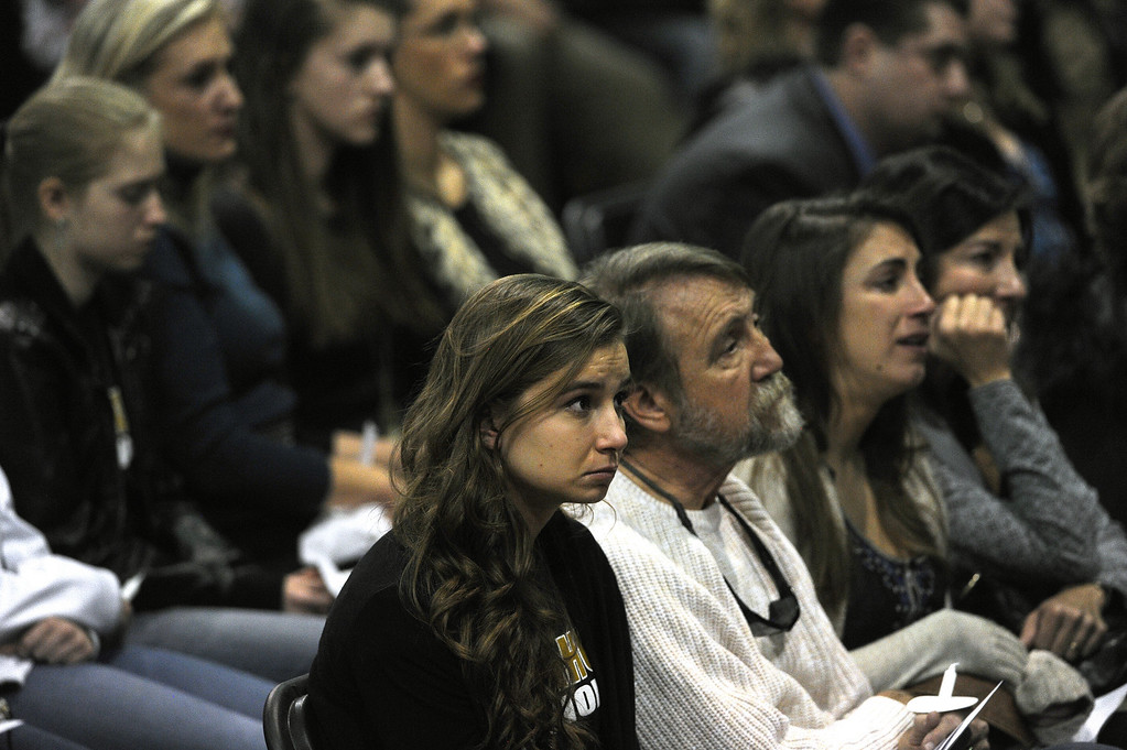 . Thousands turned out for a celebration of  life service for Arapahoe High School shooting victim Claire Esther Davis held at the National Western Stock Show Event Center in Denver, Co on January 1, 2014.    (Photo By Helen H. Richardson/ The Denver Post)