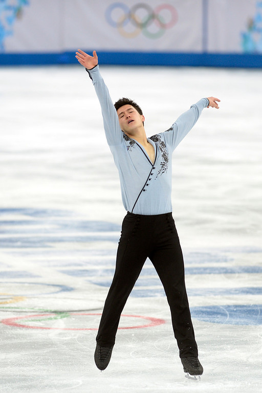 . Silver medalist Patrick Chan of Canada performs during the men\'s figure skating free skate. Sochi 2014 Winter Olympics on Friday, February 14, 2014. (Photo by AAron Ontiveroz/The Denver Post)