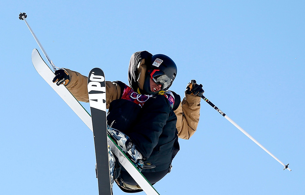 . Marek Skala of Czech Republic in action during the Men\'s Freestyle Skiing Slopestyle qualification in the Rosa Khutor Extreme Park at the Sochi 2014 Olympic Games, Krasnaya Polyana, Russia, 13 February 2014.  EPA/VALDRIN XHEMAJ