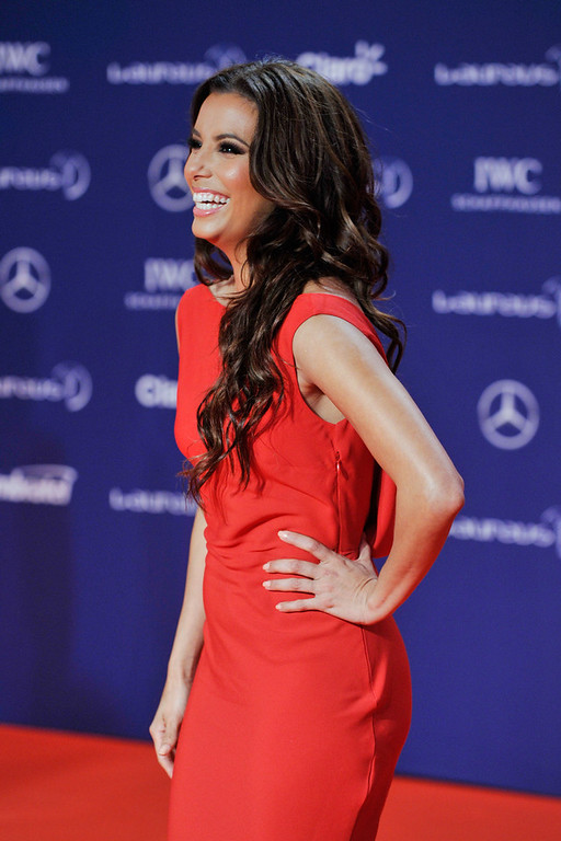 . Actress Eva Longoria attends the 2013 Laureus World Sports Awards at the Theatro Municipal Do Rio de Janeiro on March 11, 2013 in Rio de Janeiro, Brazil.  (Photo by Gareth Cattermole/Getty Images For Laureus)