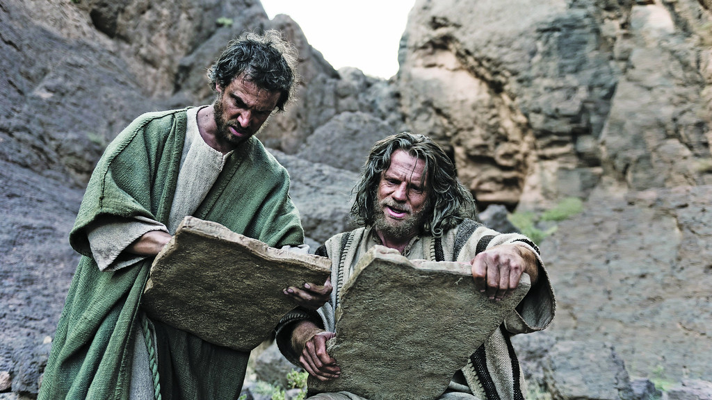 """. \""""The Bible\"""" - Ext; Mount Sinai; Moses (WILLIAM HOUSTON) tells Joshua (SEAN KNOPP) that he will need faith like he\'s never had before. © Lightworkers Media / Hearst Productions Inc."""