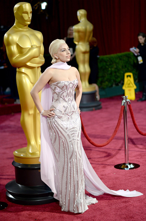 . Singer Lady Gaga attends the Oscars held at Hollywood & Highland Center on March 2, 2014 in Hollywood, California.  (Photo by Michael Buckner/Getty Images)